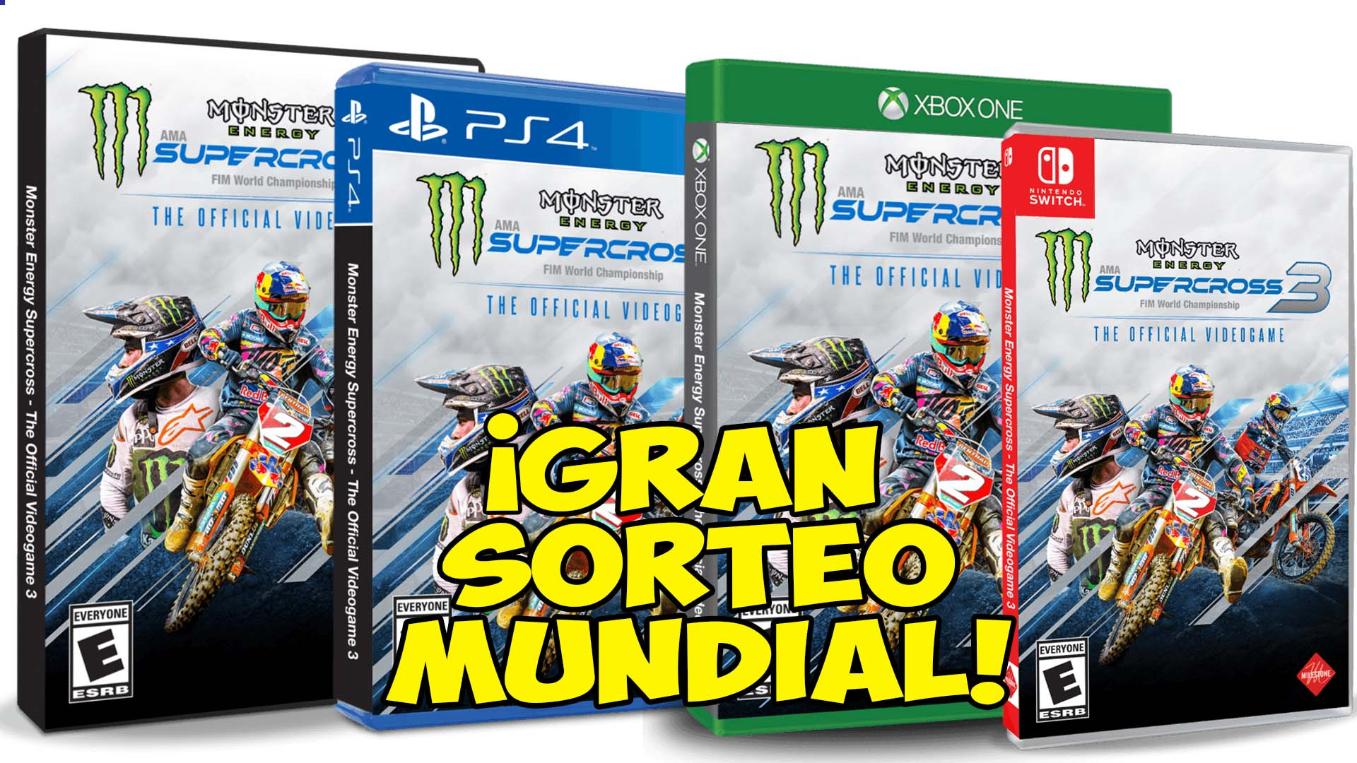 Gran Sorteo de 12 juegos Monster Energy Supercross 3